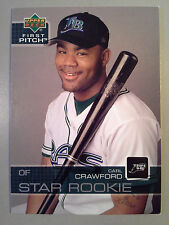 Dodgers CARL CRAWFORD 2003 Upper Deck First Pitch Rookie Card #30 RC Rays L.A.
