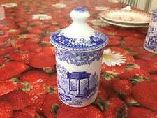 Spode Blue Room Venetian Scenes Spice Jar  Best Discontinued Wrong Lid