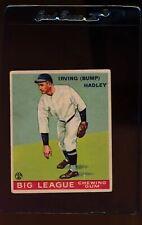 1933 Goudey  140 Bump Hadley  VG 13045