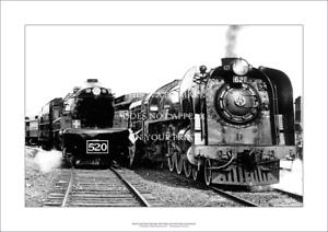 "South Aust Railways 520 & 620 Class Locos A2 Print – Poster 59 x 42 cm 23"" x 17"""