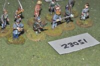 25mm ACW / confederate - markers 10 figures - inf (23051)