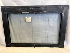 "Stoll Glass Fireplace Bi-Fold Original Door Trenton Metallic Latte 44"" x 30"""