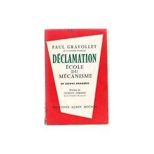 DECLAMATION école du mécanisme théâtral Paul GRAVOLLET