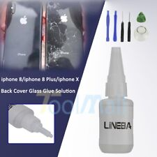Back Cover Glass Glue Solution for A pple iPhone X 8 8Plus+Free Tool Replacement