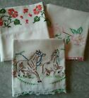 Vintage~ Embroidered Pillowcases- Assorted