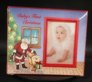 Picture Frame Baby's First Christmas  Vintage
