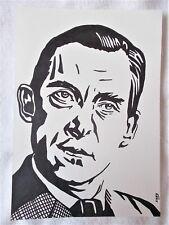 A4 Bolígrafo Marcador De Arte Dibujo Jeremy Brett como Sherlock Holmes Poster