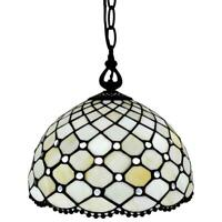 Amora Lighting 1-Light Tiffany Style Hanging Pendant AM119HL12B