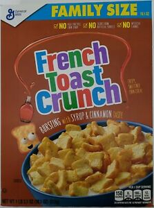 NEW GENERAL MILLS FRENCH TOAST CRUNCH CEREAL FAMILY SIZE BOX FREE WORLD SHIPPING