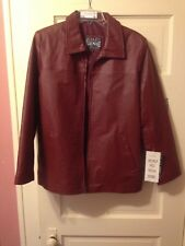 New Gino Quality Leather Women's  Jacket - Medium Red High End Quality Coat