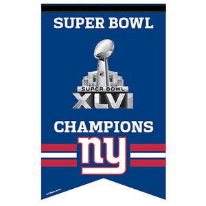 NY Giants Super Bowl 46 Logo Banner and Wall Hanging