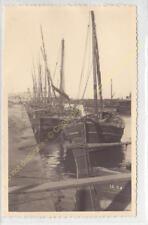 Format CPA Photo RPPC ALGERIE Alger Port Balancelles au mouillage