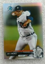 2017 BOWMAN CHROME BCP38 REFRACTOR #296/499 JOE JIMENEZ DETROIT TIGERS