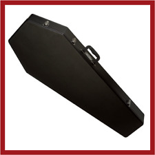 NEW! Coffin Case CF-G185BK Guitar Case with black velvet interior