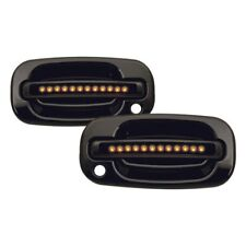 For Chevy Silverado 1500 99-06 IPCW Front Black Door Handles w Amber LEDs