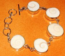 Free Shipping Shiva Eye .925 Silver Jewelry Bracelet S.7 To 8'' IMY31-39