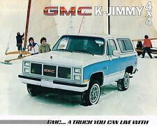 1985 GMC TRUCK K JIMMY Brochure / Catalog w/ Color Chart: K-1500, 4x4, 4WD,K1500