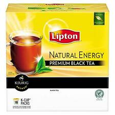 Lipton Natural Energy Premium Black Tea K-Cups 16 Ct