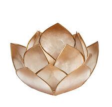 Die Schönheit der Lotusblüte, LOTUS-LICHT Abendsonne Teelicht, in Gold