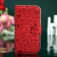 Samsung Galaxy S Duos S7562 Flip Tasche Case Schutz Hülle Klapp Etui Comic Rot