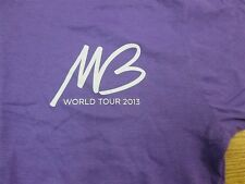 T-Shirt Given as Local Crew Micheal Buble' 2013 soft womans cut Purple M A