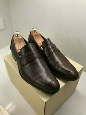 Salvatore Ferragamo Brown Leather Penny Loafers 8 D