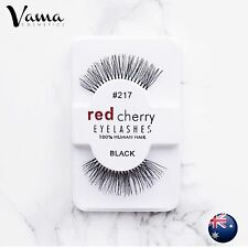 RED CHERRY #217 False Eyelashes Fake Lashes 100% Human Hair Black NEW AUS SELLER
