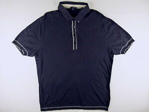 P061 TED BAKER vintage dark navy knitted polo shirt size 5(XL), great cond!