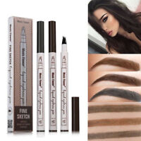 Microblading Tattoo Eyebrow Ink Fork Tip Pen Eye Brow 3D Makeup Pencil 4 Colors