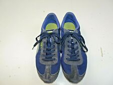 Puma Speeder Woman 10 Running Shoes Athletic 345640 Blue Silver Leather Canvas