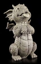 Dragon Figurine de Jardin - Doggy - Fantasie Chien Garçon Deco Statue Jardin