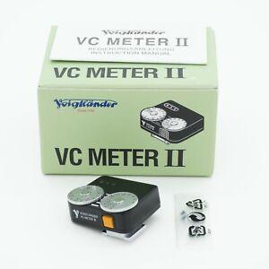 Voigtlander VC Speed Meter II Black Boxed