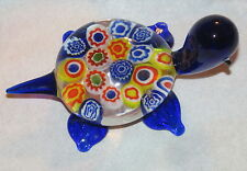 Blue Glass Turtle - Millefiori - 3 Inches - Very Cute