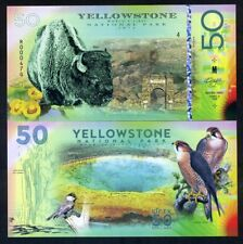 Yellowstone National Park, $50 2018, Bison, Falcon - Polymer, only 500 pcs print