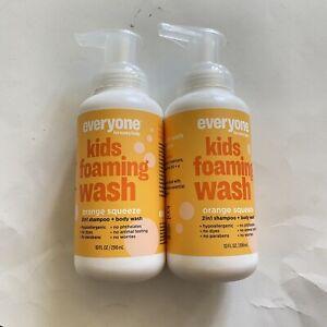 (2) Everyone Kids Orange Squeeze 2-in-1 Shampoo And Body Wash, 10 fl oz