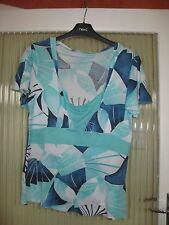 LADIES SIZE `12 M&S MULTI COLOURED TOP - GC
