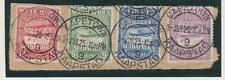 SOUTH  AFRICA  C1-4 Airmail set 1925.  Mail Plane Used on piece together