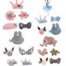 5Pcs Handmade Bowknot Hair Clips Hairpin Kids Girls Barrette Hair Accessories