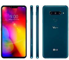 LG V40 ThinQ New Moroccan Blue, Dual SIM, 128GB 6GB, Official Warranty, No Brand