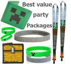 MINECRAFT Party packs package birthday Favours Wristband Lanyard wallet toys NEW