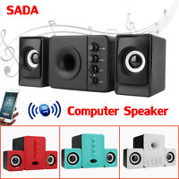 SADA BT Stereo Computer Speaker Desktop Multimedia Subwoofer System Laptop PC SS