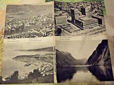 1962 Carte & Image Suède & Norvège nord Bergen Jarvik , Oslo Stor-Fjord