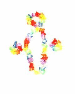 Hawaiian Set Flower Summer Lei Hen Hula Party Fancy Dress Unisex Garland