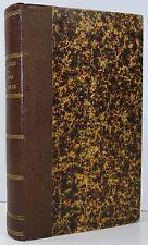 FOCILLON Cours Elementaire D'Histoire Naturelle Nature Biology FINE BINDING 1863