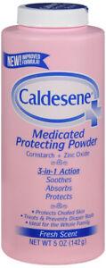 Caldesene Medicated Protecting Powder with Zinc Oxide & Cornstarch-Talc Free 5Oz