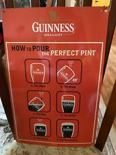 Guinness Beer Tin Sign, How to Pour the Perfect Pint Tin Sign 17 x 11 Tin Sign