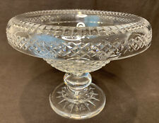 "Waterford Crystal Large Footed Turnover Centerpiece Bowl 10"" D 7 1/2"" H Damaged"