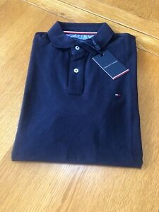 Tommy Hilfiger Polo Shirt Sky Captain Navy 100% Authentic, Brand New, Tagged.