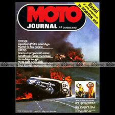 MOTO JOURNAL N°184 ANDRE MALHERBE SAND TRACK SCHEESEL NORTON 850 COMMANDO 1974