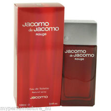 JACOMO DE JACOMO ROUGE 100ml EDT SPRAY FOR MEN BY JACOMO ----------- NEW PERFUME